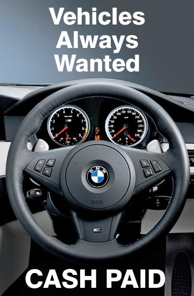 Image of a BMW steering wheel